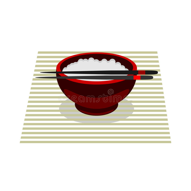 Chinese food rice color vector flat icon stock images