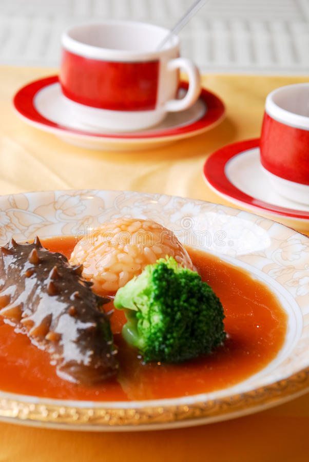 Download Chinese Food - Sea Cucumber And Rice Stock Photo - Image: 14853086