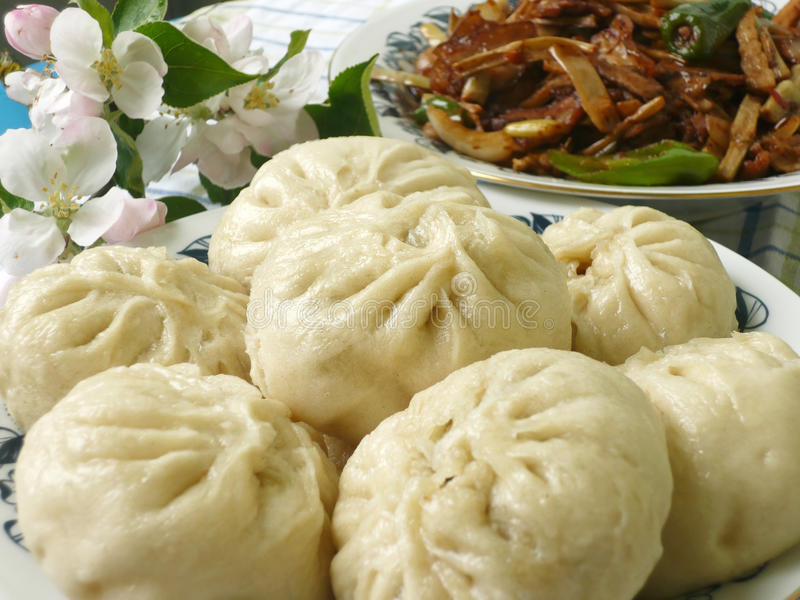 Chinese food specialty. Dumpling with filling stock photography