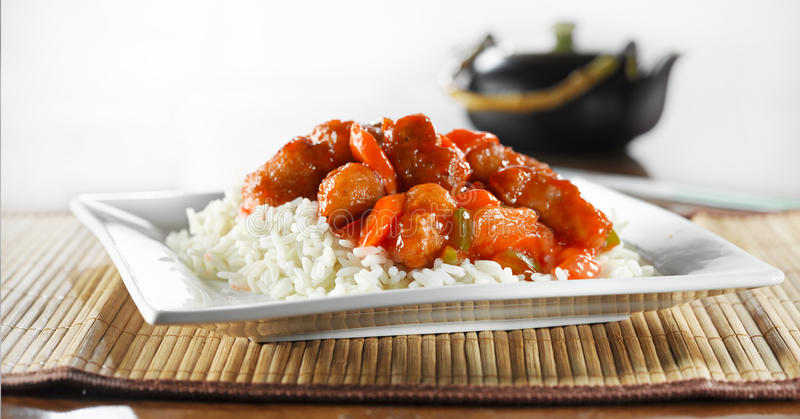 Download Chinese Food - Sweet And Sour Chicken Wideshot Stock Photo - Image: 23603632