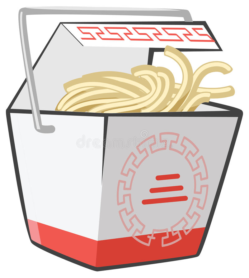 Download Chinese Food Take-Out Box stock illustration. Image of hungry - 23881075