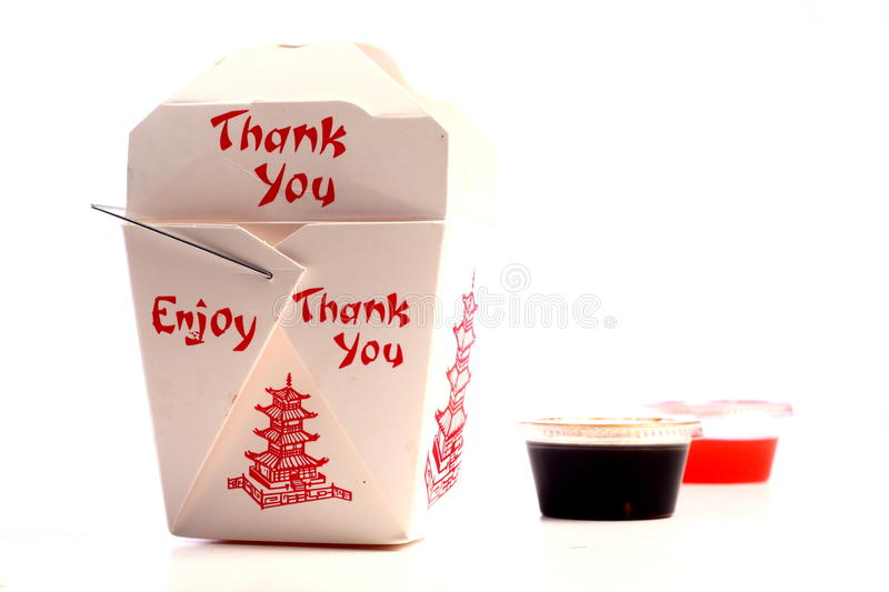 Chinese food takeout. A shot of asian food boxes royalty free stock photo