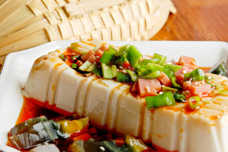 Chinese food- tofu and preserved eggs royalty free stock photos
