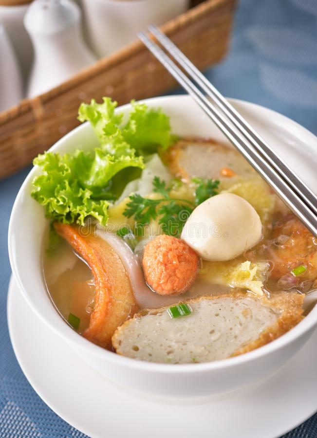Chinese food, Wonton and noodle stock photography