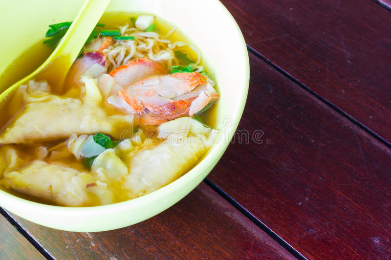 Chinese food, Wonton for traditonal gourmet dumpling image on wo royalty free stock images