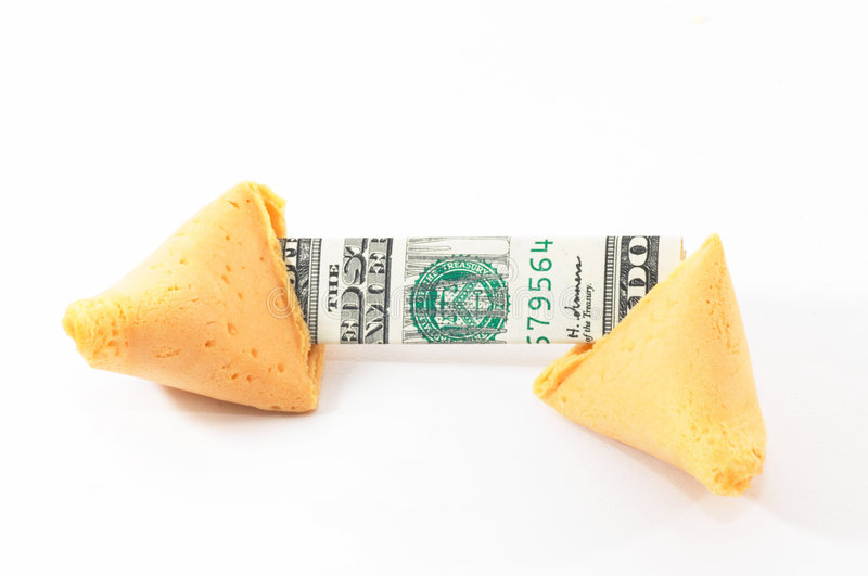 Chinese Fortune Cookie open wi stock photography