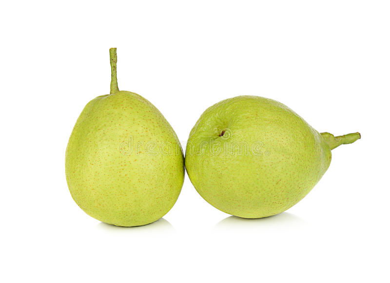 Chinese fragrant pear isolated on white background royalty free stock image