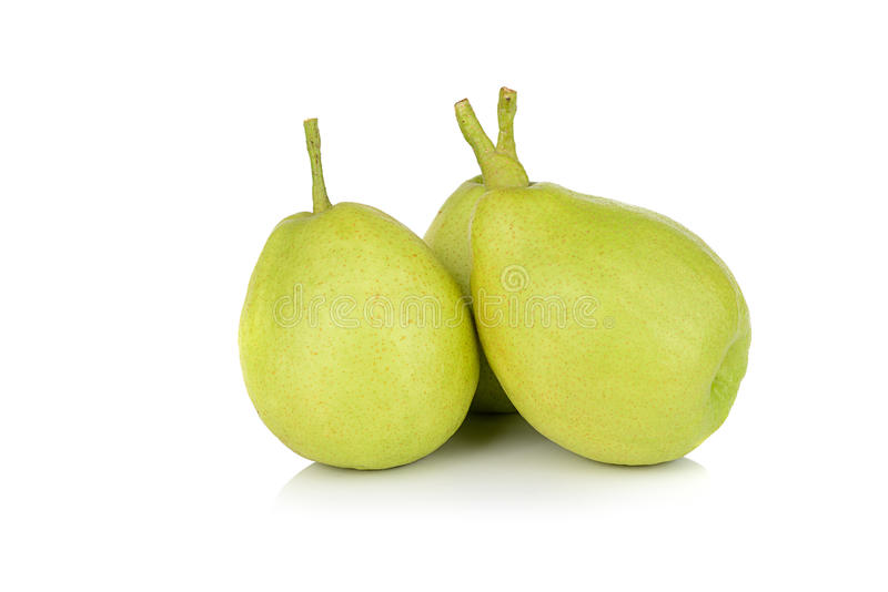Chinese fragrant pear isolated on white background royalty free stock photography