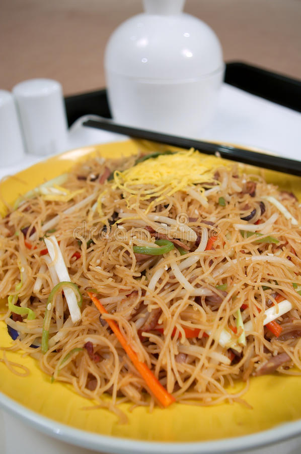 Chinese Fried Noodles Stock Images