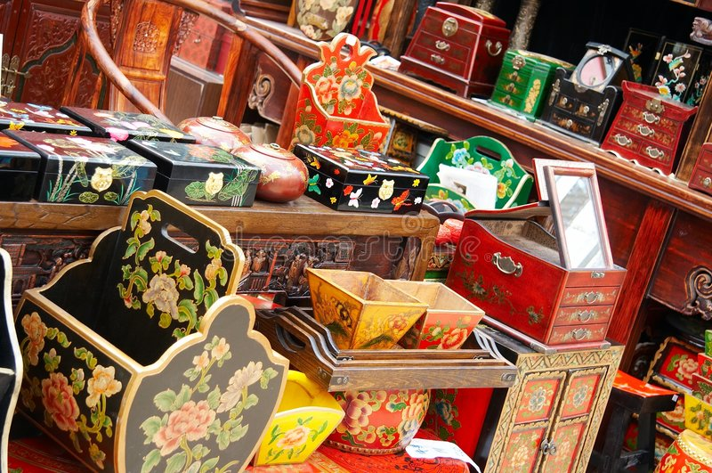 Chinese furniture collection royalty free stock photography
