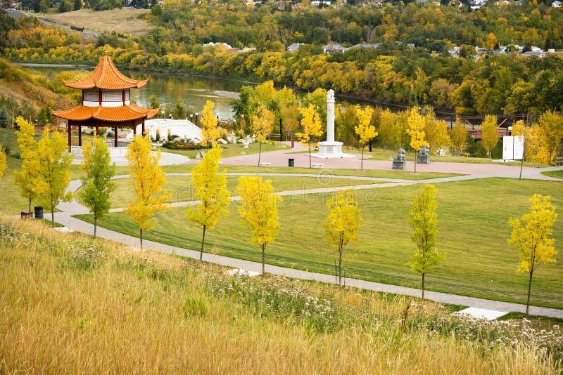 Download Chinese Garden Edmonton stock image. Image of autumn, heritage - 3255259