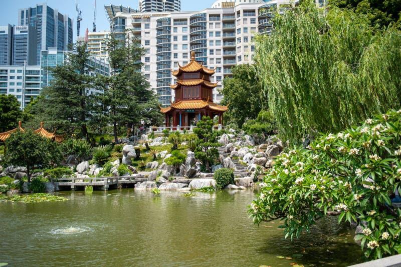 Chinese Garden of Friendship, Sydney, Australië december 2019 stock fotografie
