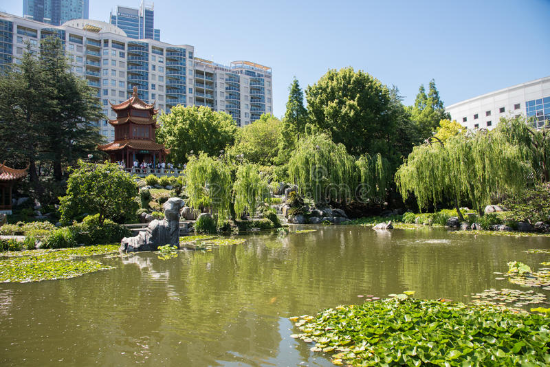 Chinese Garden Of Friendship With Tourists Editorial Photography ...