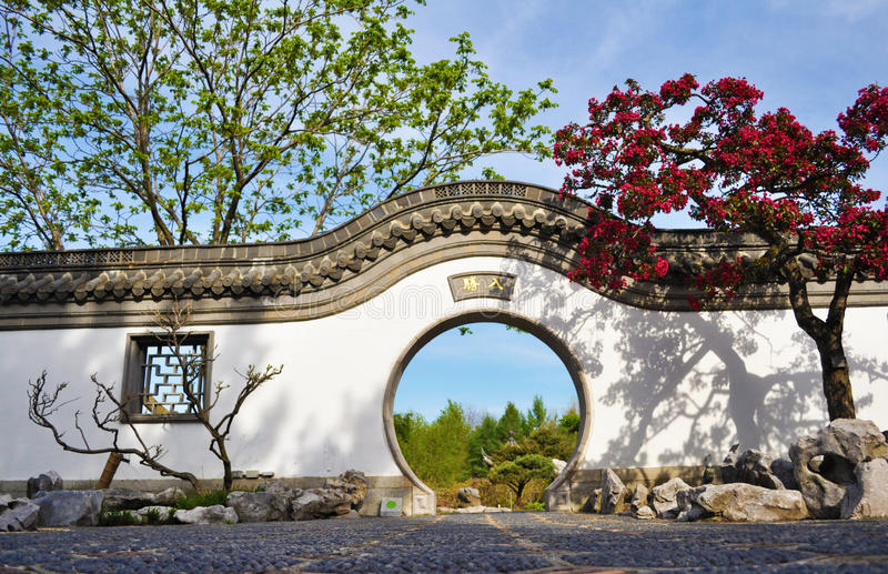 Chinese Garden Gate stock image