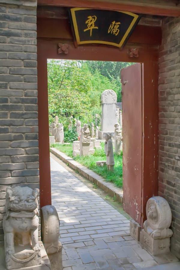 Chinese garden at Jianfu Temple. Xian, China royalty free stock photo