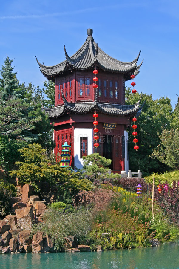 Chinese garden of Montreal. royalty free stock photo
