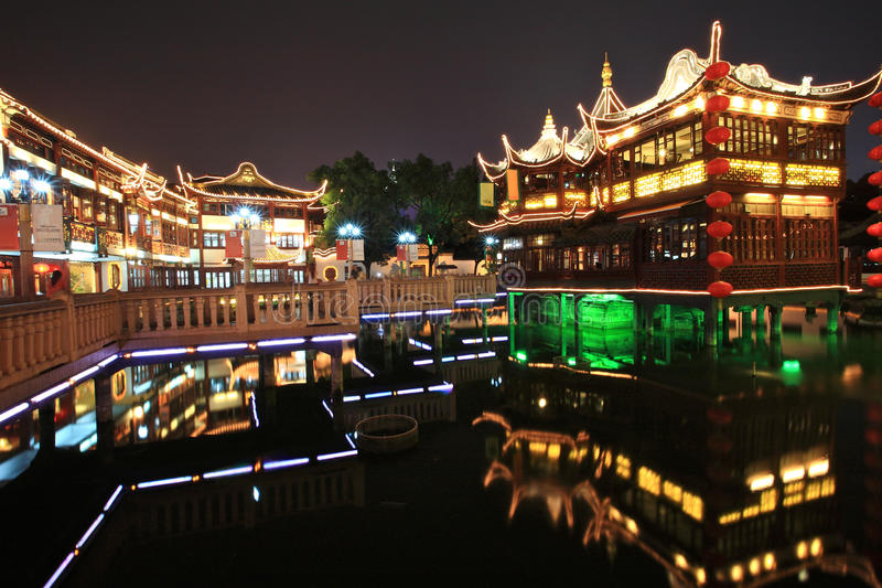 Chinese Garden,Shanghai,China. Yuyuan Garden located in the southern part of Shanghai, is a famous classic garden. It is characteristic of the architectural royalty free stock photography