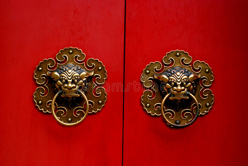 Chinese gate stock image