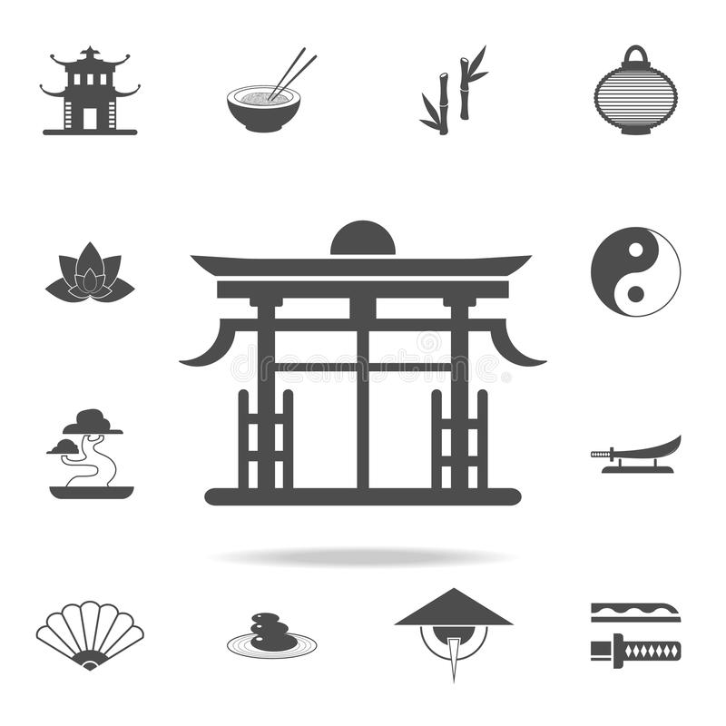 Chinese Gate Icon Set Of Chinese Culture Icons Web Icons Premium