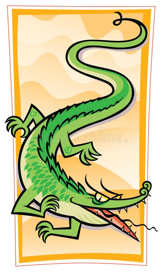 Download Chinese Gator/Dragon stock vector. Illustration of flying - 23451312