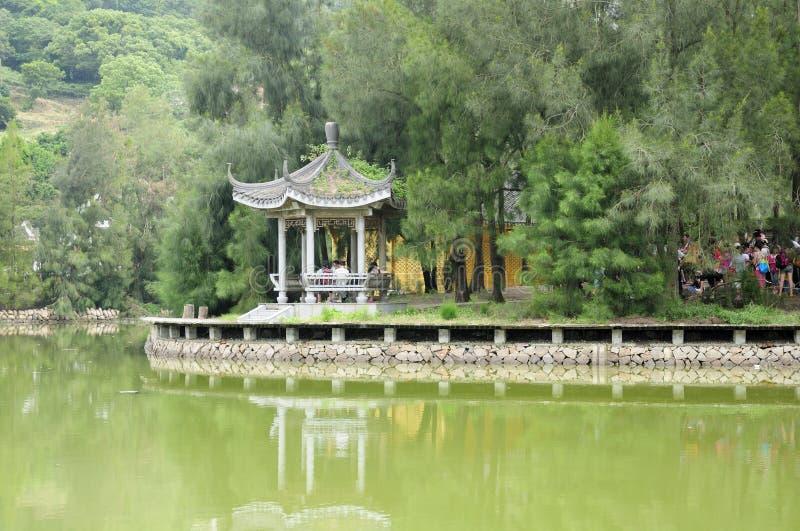 Chinese Gazebo op Putuoshan royalty-vrije stock fotografie