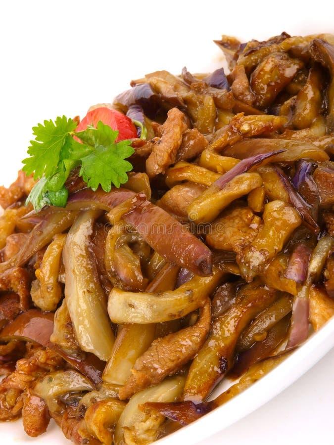 Chinese gebraden aubergine royalty-vrije stock afbeelding