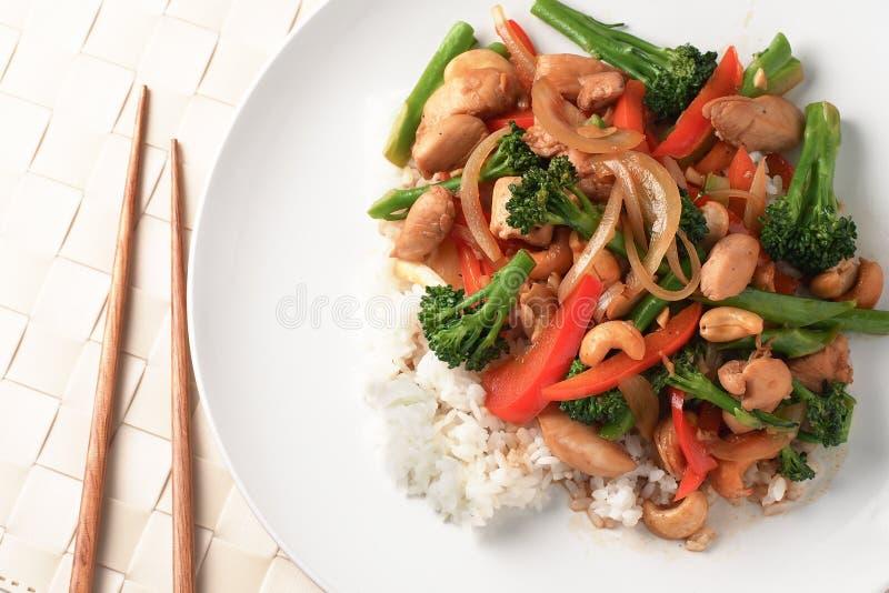 Chinese gebratenes Gemüse lizenzfreies stockfoto