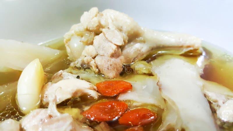 Chinese gedünstetes Huhn in der Schüssel stockfoto