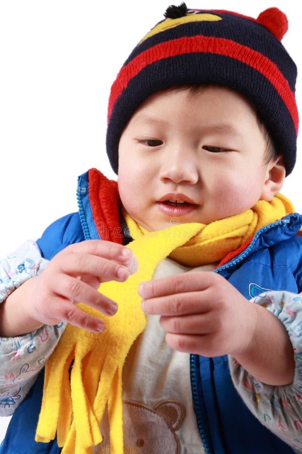 Chinese gelukkige jongen stock afbeelding