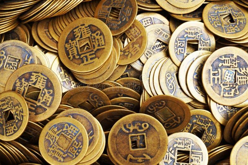Chinese gelukkige muntstukken royalty-vrije stock fotografie