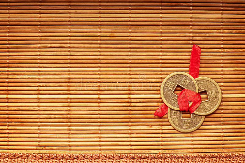 Chinese gelukkige muntstukken stock afbeelding