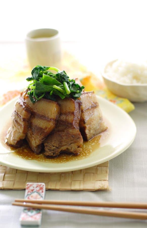 Chinese gesmoorde varkensvleesbuik royalty-vrije stock foto