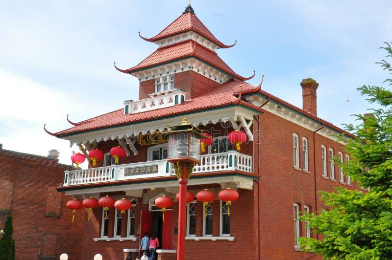 Chinese Gesubsidieerde lage school van Victoria de BC royalty-vrije stock foto's