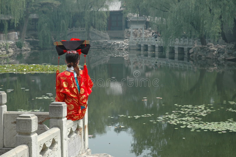 Download Chinese girl stock image. Image of park, chinese, palace - 166469