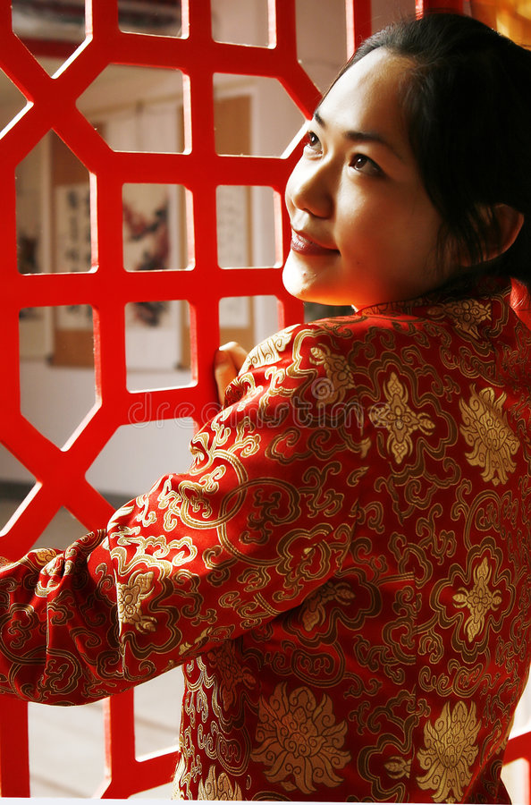 Download Chinese girl stock photo. Image of pattern, china, culture - 5049156