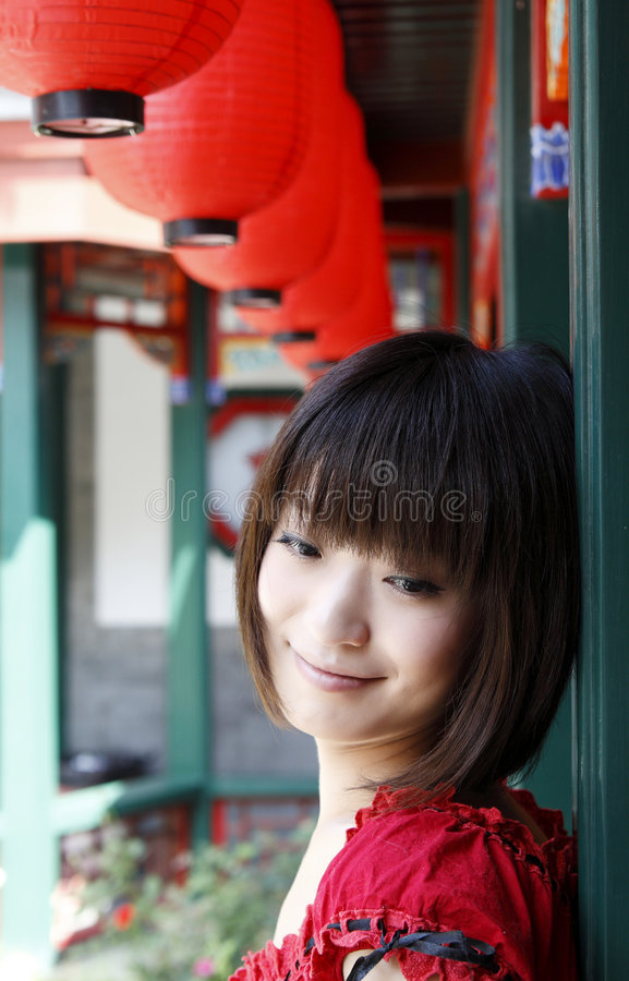 A Chinese girl royalty free stock photos