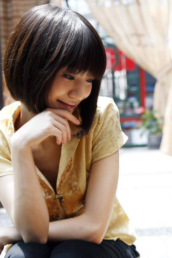 A Chinese girl stock photography