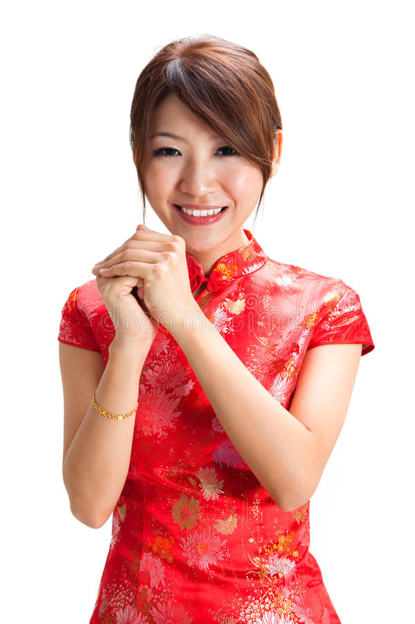 Chinese Girl Blessing Stock Images