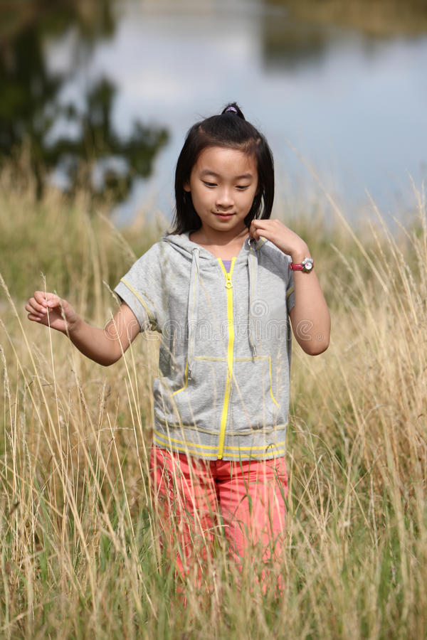 Download Chinese girl in field stock image. Image of girl, travel - 23623313