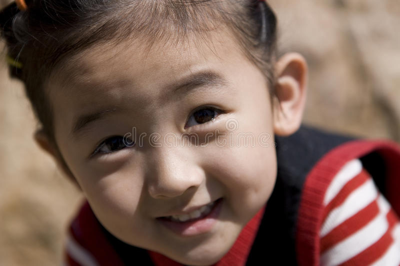 Chinese girl with smile royalty free stock photography