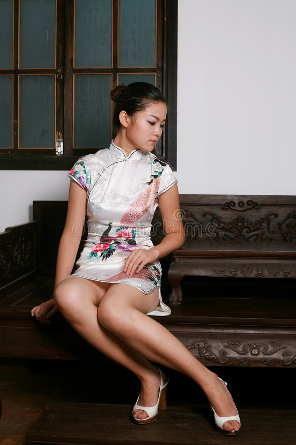 Download Chinese Girl In  Tradition Dress Stock Image - Image: 6382723