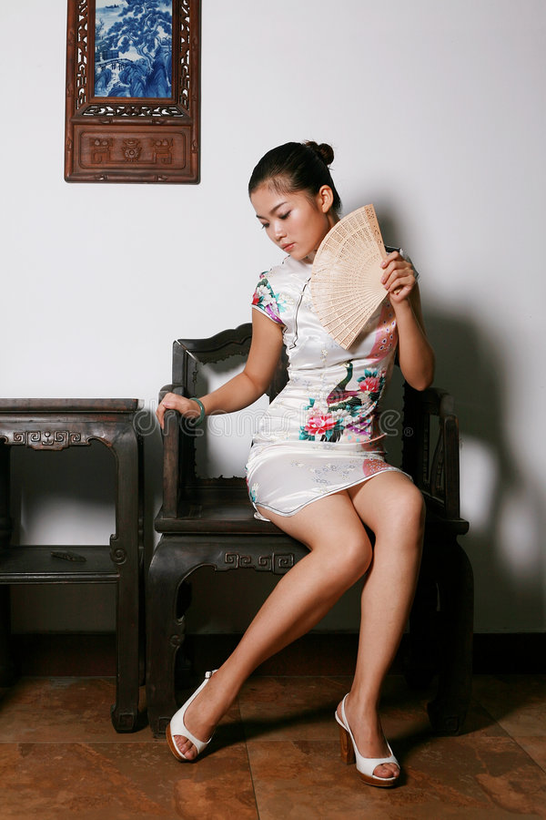 Download Chinese Girl In  Tradition Dress Stock Photo - Image of oriental, happy: 6382736