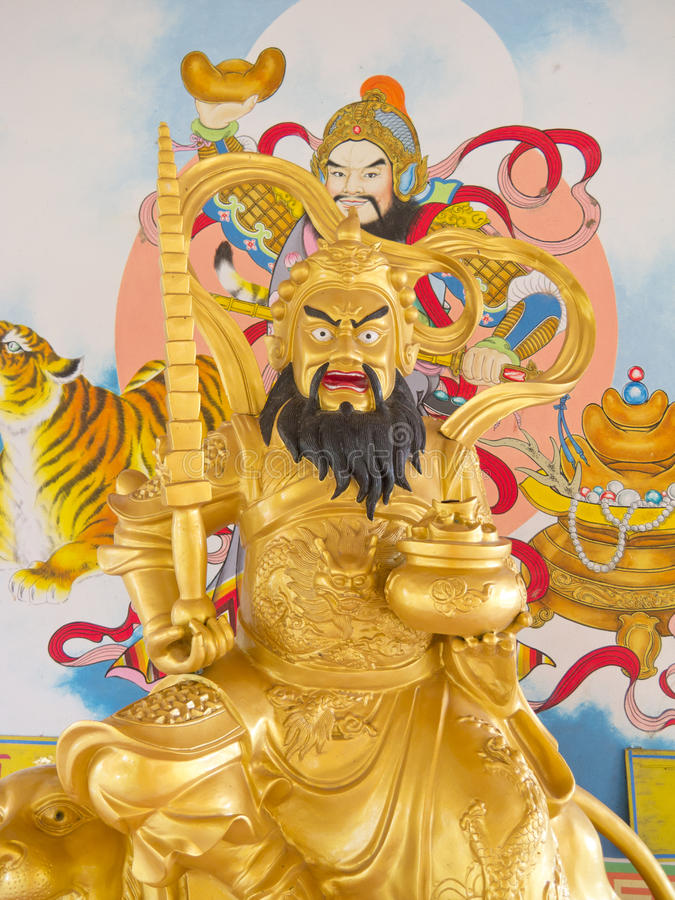 Download Chinese god stock photo. Image of statue, yellow, holy - 26429824