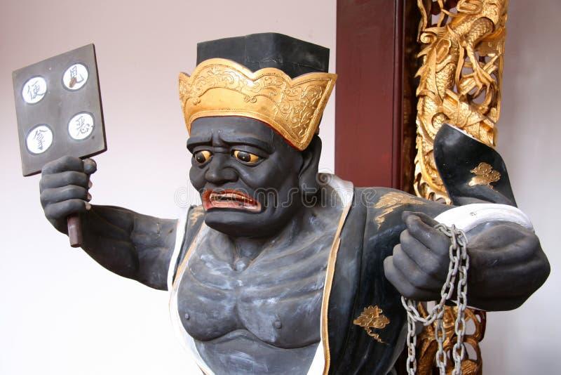 Chinese God - de Tempel van Keng van de Rijnwijn Thian, Singapore royalty-vrije stock foto's