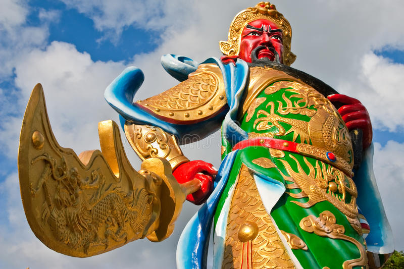 Chinese god statue royalty free stock image