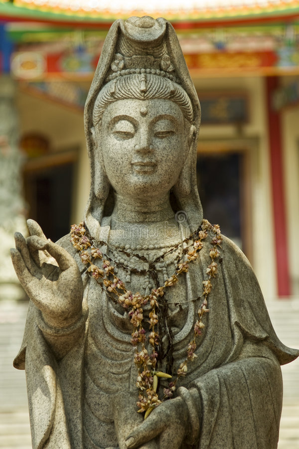 Chinese goddess statue royalty free stock image