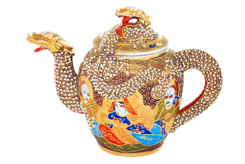 Chinese teapot royalty free stock photos