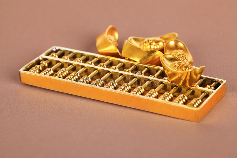 Download Chinese Gold Ingot And Golden Abacus Stock Photos - Image: 29097733