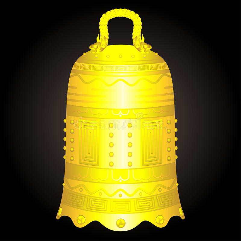 Free Chinese Golden Bell Artifact Vector Illustration Stock Image - 95506171
