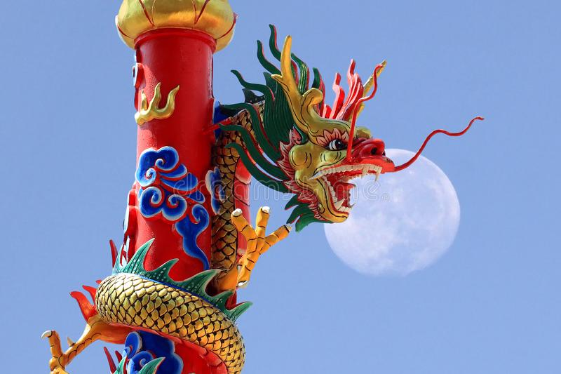 Chinese golden dragon royalty free stock photography
